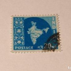 Sellos: SELLO INDIA USADO 1957. SERIE MAPA NACIONAL.. Lote 100371343