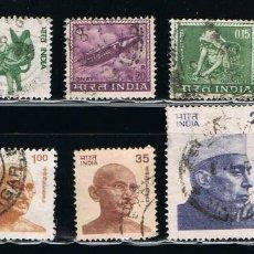 Sellos: INDIA - LOTE DE 10 SELLOS - VARIOS (USADO) LOTE 11. Lote 111505743