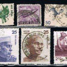 Sellos: INDIA - LOTE DE 10 SELLOS - VARIOS (USADO) LOTE 12. Lote 111505987