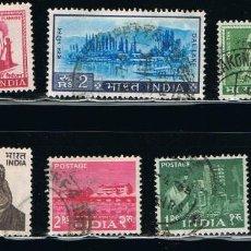 Sellos: INDIA - LOTE DE 10 SELLOS - VARIOS (USADO) LOTE 14. Lote 111506755