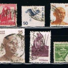 Sellos: INDIA - LOTE DE 10 SELLOS - VARIOS (USADO) LOTE 15. Lote 111510011