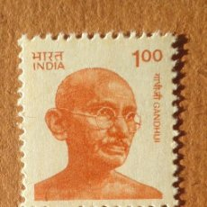 Sellos: 2 SELLOS BLOQUE 1991 INDIA SERIE GHANDI. Lote 112717255