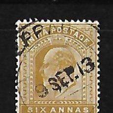 Sellos: INDIA INGLESA IMPERIO 1902-09 EDUARDO VII. Lote 117283103