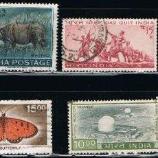 Sellos: INDIA - LOTE DE 10 SELLOS - VARIOS (USADO) LOTE 26. Lote 117907031
