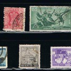 Sellos: INDIA - LOTE DE 10 SELLOS - VARIOS (USADO) LOTE 28. Lote 117908615