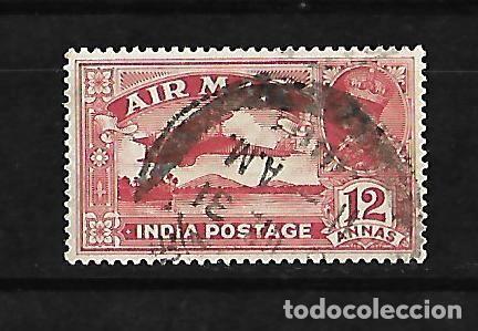 INDIA INGLESA IMPERIO 1929 CORREO AEREO USADO YVERT A-6 (Sellos - Extranjero - Asia - India)