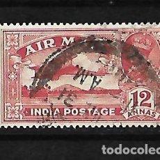 Sellos: INDIA INGLESA IMPERIO 1929 CORREO AEREO USADO YVERT A-6 . Lote 118003087