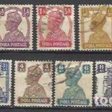 Sellos: 6083-SERIE COMPLETA JORGE VI INDIA COLONIA INGLESA 1939 Nº161/73 YVERT. USADOS. Lote 125427263