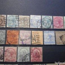 Sellos: COLONIAS BRITÁNICAS INDIA BRITISH INDIA REINA VICTORIA SELLOS LOTE. Lote 142423206