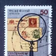 Sellos: 1979 INDIA I CENTENARIO TARJETA POSTAL. Lote 141805270