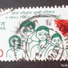 Sellos: 1987 INDIA PLANIFICACIÓN FAMILIAR. Lote 142360930