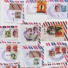 Sellos: LOTE DE UNOS 100 SELLOS Y MATASELLOS DE LA INDIA. Lote 142995778