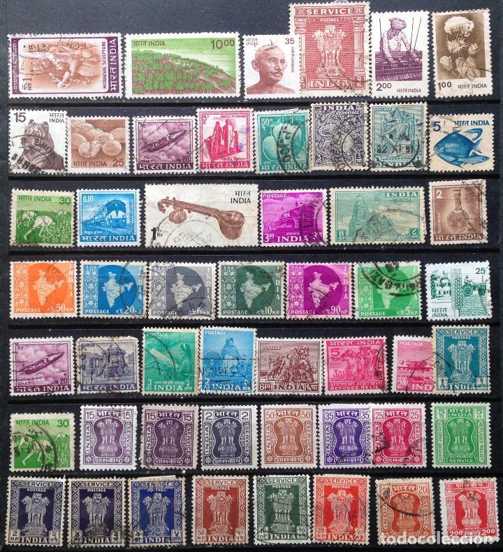 INDIA 50 SELLOS USADOS (Sellos - Extranjero - Asia - India)