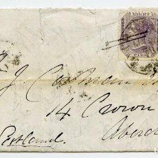 Sellos: CARTA DE UN MILITAR DESDE CAMP BAREILLY, INDIA, A ABERDEEN, ESCOCIA, GRAN BRETAÑA. 1870. Lote 145433386