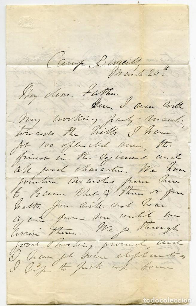 Sellos: Carta de un militar desde Camp Bareilly, India, a Aberdeen, Escocia, Gran Bretaña. 1870 - Foto 3 - 145433386