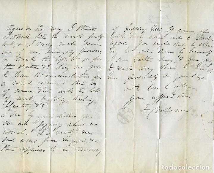 Sellos: Carta de un militar desde Camp Bareilly, India, a Aberdeen, Escocia, Gran Bretaña. 1870 - Foto 4 - 145433386