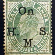 Sellos: INDIA - REY EDUARDO VII - ½ A - 1902. Lote 147669026