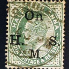 Sellos: INDIA - REY EDUARDO VII - ½ A - 1902. Lote 147669058