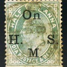 Sellos: INDIA - REY EDUARDO VII - ½ A - 1902. Lote 147669074
