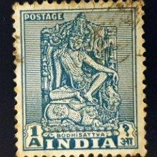 Sellos: INDIA - EMBLEMAS NACIONALES - BODHISATTVA - 1 A - 1949. Lote 147669130