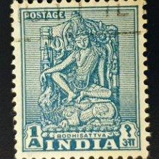 Sellos: INDIA - EMBLEMAS NACIONALES - BODHISATTVA - 1 A - 1949. Lote 147669182