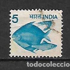 Sellos: PECES DE LA INDIA. SELLO AÑO 1991. Lote 148265778