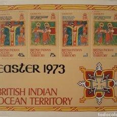 Sellos: HOJA BLOQUE INDIA BRITANICA 1973. Lote 148336656
