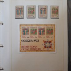 Sellos: SELLOS + HOJA BLOQUE INDIA BRITANICA 1973. Lote 148742862