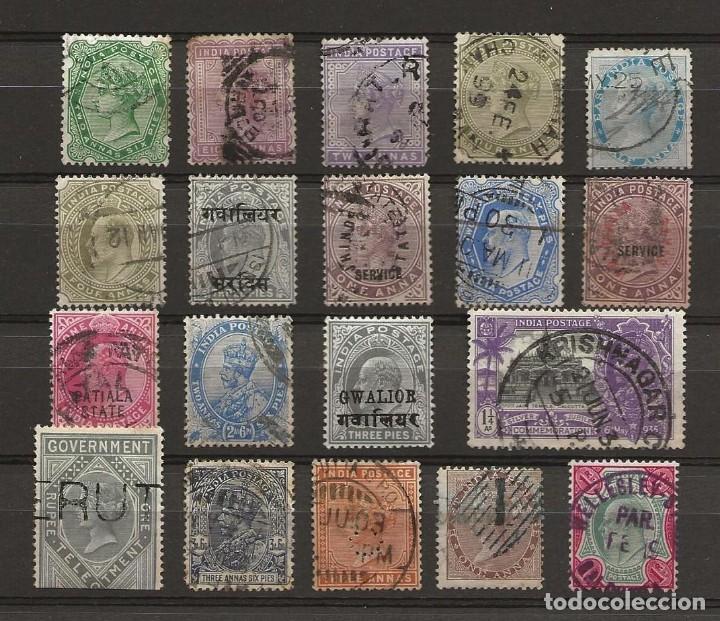 LOTE 19 SELLOS INDIA COLONIA BRITANICA (Sellos - Extranjero - Asia - India)