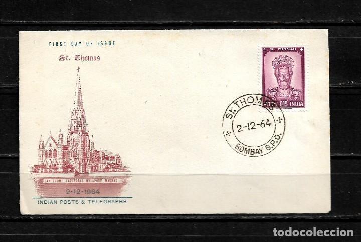 INDIA 1964 SOBRE PRIMER DIA CATEDRAL DE SANTO TOMAS (Sellos - Extranjero - Asia - India)