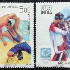 Sellos: 2004. DEPORTES. INDIA. 1798 / 1801. JUEGOS OLÍMPICOS ATENAS. USADO.. Lote 159111606