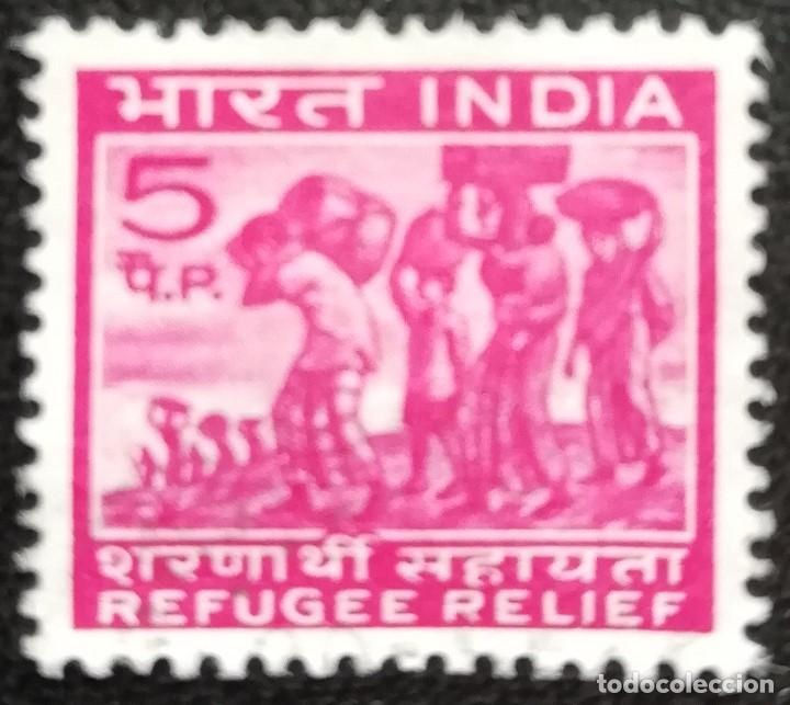 1971. VARIOS. INDIA. 335. AYUDA A LOS REFUGIADOS. SERIE COMPLETA. USADO. (Sellos - Extranjero - Asia - India)