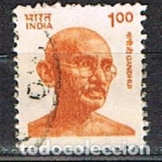 Sellos: INDIA Nº 1290, GHANDI, USADO. Lote 176836023
