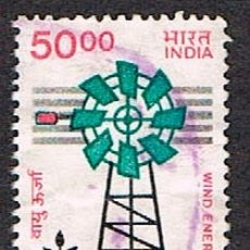 Sellos: INDIA Nº 1072, A FAVOR DE LA ENERGIA EOLICA, USADO. Lote 193067576