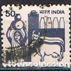 Sellos: INDIA Nº 901, INDUSTRIA LECHERA, USADO. Lote 176837450