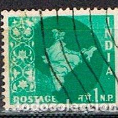 Sellos: INDIA Nº 289, MAPA, USADO. Lote 176849533