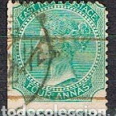 Sellos: INDIA Nº 24, LA REINA VICTORIA, EMPERATRIZ DE LA INDIA, USADO (AÑO 1865). Lote 176850652