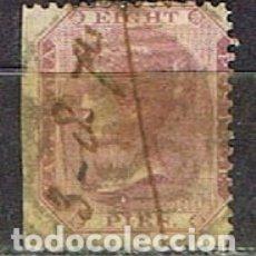 Sellos: INDIA Nº 18 A, LA REINA VICTORIA, EMPERATRIZ DE LA INDIA, USADO (AÑO 1860). Lote 176850807