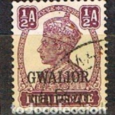 Sellos: GWALIOR (INDIA) Nº 103, SELLO DE LA INDIA SOBECARGADO, SOBRECARGADO, USADO. Lote 176853817