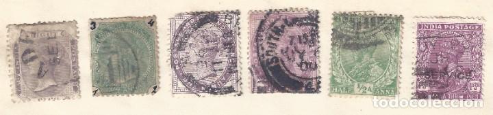 INDIA. LOTE DE 6 SELLOS DE FINALES DEL SIGLO XIX. (Sellos - Extranjero - Asia - India)