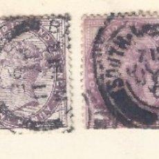 Sellos: INDIA. LOTE DE 6 SELLOS DE FINALES DEL SIGLO XIX.. Lote 177895883