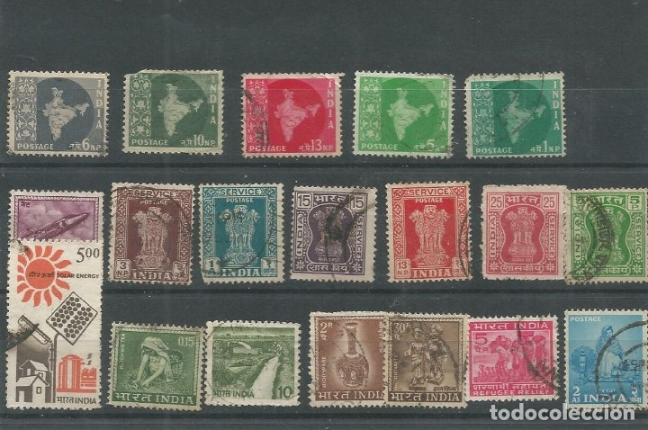 19 SELLOS DE LA INDIA (Sellos - Extranjero - Asia - India)