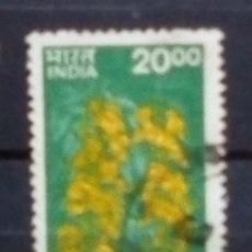 Sellos: INDIA FLORA SELLO USADO. Lote 184348732