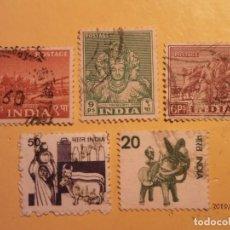 Sellos: INDIA - TEMAS VARIADOS - 5 VALORES.. Lote 185052505