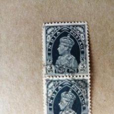 Sellos: INDIA BRITÁNICA - VALOR FACIAL: 3 PIES - REY EDUARSO VIII. Lote 192653151