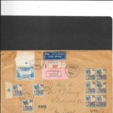 Sellos: INDIAS HOLANDESAS CARTA CIRCULADA EN 1931 CERTIFICADO EXPRESS Y CON 3 VIÑETAS AL DORSO. Lote 192836498