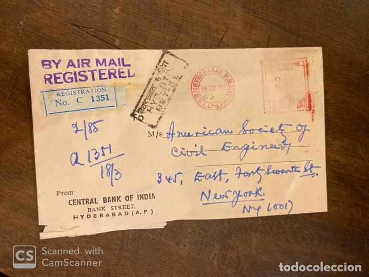 Sellos: LOTE DE 57 SOBRES DE LA INDIA. VER TODAS LAS FOTOS. - Foto 12 - 197279698