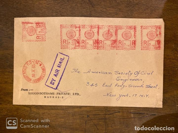 Sellos: LOTE DE 57 SOBRES DE LA INDIA. VER TODAS LAS FOTOS. - Foto 45 - 197279698