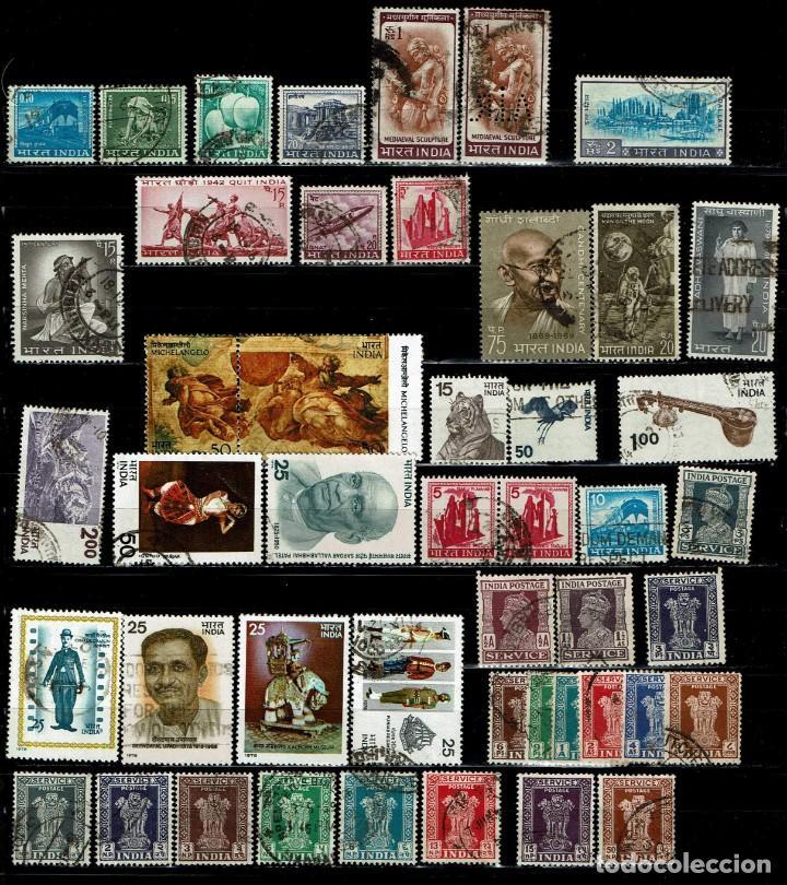 Sellos: INDIA: LOTE 92 SELLOS SURTIDOS - Foto 2 - 198025968