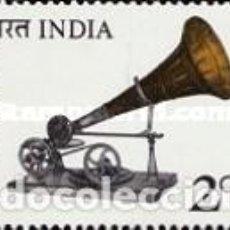 Sellos: INDIA 1977 - FONOGRAFO - YVERT Nº 524**. Lote 198692506